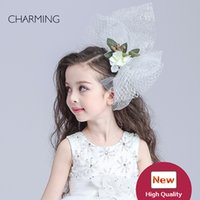 Wholesale novelty tiaras - Hair flower applique Birthday tiara Kids beauty contest And wedding hair tiara Kids dresses for girls Best flower girl Product supplier chin