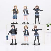 Wholesale K Mio - 6pcs set 12cm -15cm K-ON! Akiyamn Mio Yui Hirasawa school uniform PVC aAction Figure Model Toy