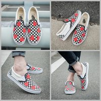 Wholesale Shark Rubber - 2017 Bape x  Old Skool VANS SHARK MOUTHS Checkerboard Camo Skateboarding Shoes Women Mens Big Eyes Casual canvas Slip On Sneakers 36-44