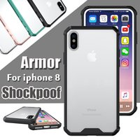 Wholesale Armor Air - Air Case Hybrid Crystal Soft TPU Transparent Frame Acrylic Cover Armor Case For iPhone X 8 7 Plus 6 6s Samsung Galaxy S8 Plus S7 edge Note 8