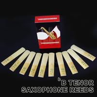 Wholesale Tenor Sax Accessories - Wholesale- Saxofone Accessories XINZHONG 2 1 2 bB Tenor Sax Saxophone Reeds Set 10pcs box