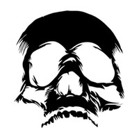 Wholesale sticker funny faces - Hot Sale Terrible Evil Skull Face Car Stickers Funny Motorcycle Vinyl Decals Car Stying JDM