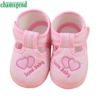 Wholesale Shoe Wholesale Dropship - Wholesale- Hot Newborn Girl Boy Soft Sole Crib Toddler Shoes Canvas Sneaker First Walkers Fashion Baby Girl Shoes Levert Dropship Jan11