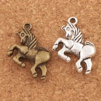 Wholesale Kids Animal Necklaces - Fairy Tale Kid Unicorn Charms Pendants 100pcs lot 20x16mm Antique Silver Bronze Jewelry Fit Bracelets Necklace Earrings L094