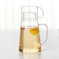 Wholesale Wholesale Glass Tea Set - Glass Pitcher Borosilicate Glass Cup For Hot Cold Water Ice Tea And Juice Beverage High Quality Cold Water Cup
