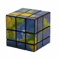 Wholesale Puzzles Map - 3x3x3 Mirror Blocks Map Sticker Magic Cube Puzzle Speed Cube ABS Material Colorful Cube toys Learning Educational Christmas gift
