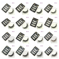Wholesale Full Hair - 3D False eyelashes 16 Styles Handmade Beauty Thick Long Soft lashes Fake Eye Lashes Eyelash Sexy 3001078