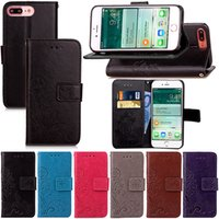 Wholesale Leather Id Flip Case - Premium PU Leather Flip Fold Wallet Case with [ID&Credit Card Slot] for iPhone 5 5s 5c 7 6 Plus & 6S Plus 5.5 Inch 4.7 inch TOUCH 5 6 4 4s