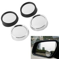 Wholesale Wide Angle Side View Mirror - DHL Freeshipping 200pcs Wide Angle Round Convex Car Vehicle Mirror Blind Spot Rear View Messaging