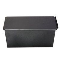 Wholesale Cake Bread Boxes Wholesale - Wholesale- GSFY-Rectangle Bakeware Nonstick Box Large Loaf Tin Kitchen Pastry Bread Cake Baking Black
