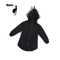 Wholesale Girls Jacket Children Sweater - Dinosaur sweater coat 2016 spring autumn children clothing kids boys girls cute long-sleeved hooded outwear jacket