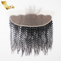 Wholesale Top Chinese Sale - Cheap Indian Hair Lace Frontal Closure Pieces Kinky Wave 13x4 Top Lace Closures Bleached Knots Malaysian Brazilian Human Hair For Sale