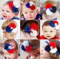 Wholesale Floral Celebrations - 2017 4th of July Floral Headband American Independence Day Headbands National Day Celebration Hairbands Fourth of July Hairbands