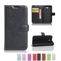 Wholesale Black Leather Iphone 5s Case - Litchi Pattern Leather Card Slots Flip Kickstand Wallet Case Cover For Iphone 7 6s 6 plus 5 5s SE Sumsang S8 plus J7 C7 pro OPP BAG
