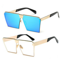 Wholesale Korean Men Sun Glass Fashion - Designer Ladies Sunglasses Mens New Style Korean Square Sun Glasses For Men Women 2017 Shades Sunglasses Fashion Cat Eye Sunglasses Accessor
