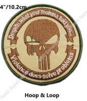 "Wholesale Navy Seals Hats - 4"" Navy Seal Lone Survivor Punisher Sniper Tactical Combat Multicam Military Hook & Loop Patches badge for clothing cap bags hat"