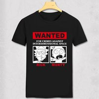 Wholesale Wholesale Long Sleeve Yellow Tshirts - Wholesale- FREE RICK Rick and Morty DIY men's short sleeve T-shirt cotton Round collar white gray black Funny T shirt Hipster TShirts