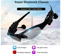 Smart Glasses Bluetooth V4.1 Sunglass 4 cores Sun Glass Sports Headset MP3 Player Bluetooth Phone Fones de ouvido sem fio Óculos Bluetooth