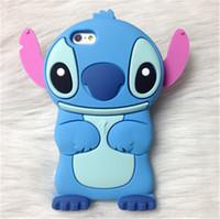 Wholesale Stich Cases - Cartoon Stich Soft Silicone Back Cover Lilo Stitch Case For Samsung Galaxy S5 S6 S6 EDGE S7 S7 EDGE 1214