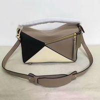 Wholesale Metallic Clutch Bags - Hot Fashion Bags Luxury Shoulder Bag Puzzle Bag Ladies Women Brand Clutch Bags Lady Totes Handbags Geometric Bag 271101