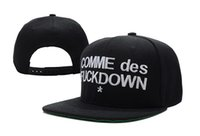 Wholesale Comme Des Fuckdown Red - COMME des FUCKDOWN Snapback basketball hats men and women most popular adjustable caps black hiphop bboy flat hat freeshipping