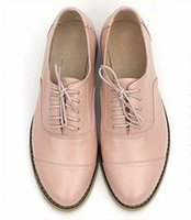 Wholesale New British Vintage Oxford Shoes - Wholesale- 2017 New Women's Flats Casual Shoes Lace Up Brogues Vintage Oxfords Shoes Women British Style Pointed Toe Women Brogues Oxfords