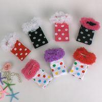 Wholesale Leg Warmer For Toddler - Girls Lace Leggings Leg Warmers Christmas Socks Polka Dot Stripe Princess Sweet for Children Kid Baby Toddler Warm Fashion