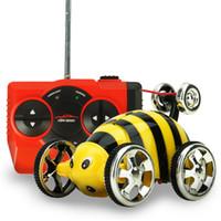 Wholesale Remote Stunt Car - Wholesale- Remote Control 3CH 360 Degrees Roll Car RC Electric Mini Car RC Remote Control Stunt Car Toy Best Gift for Kids Children FCI#