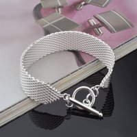 Wholesale price alloy bar resale online - High quality Cool New Retail lowest price Christmas gift new silver fashion Bracelet
