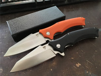 Wholesale Used Hunting Knives - Snake head Orange Black G10 folding knife Imitate Cold Steel knife Use 9cr steel +Hardness 59HRC ball bearing knives+New hot sell