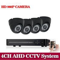 Nini 4CH 1080N AHD CCTV DVR Sistema HD 4PCS Dome CCTV Nero Telecamere 1.3 Megapixel Enhanced Telecamera di sicurezza IR NO HDD