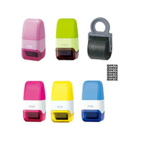 Wholesale free ink stamps - Creative Confidentiality Roller Stamps Messy Code Security Self-Inking Stamp Portable Mini Covering Stamps Free Shipping ZA2740