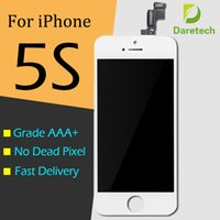 Wholesale Iphone White Parts - Black White LCD Display Touch Screen Digitizer Full Assembly for iPhone 5S Replacement Repair Parts & free shipping