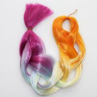 ingrosso estensioni due colori-Sara Ombre Two Tone Gradient Jumbo Box trecce Intrecciare i colori di estensione dei capelli 60cm / 24