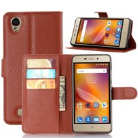 zte лезвие кожи флип оптовых-Wholesale- For ZTE Blade X3 Case Flip Wallet PU Leather Phone Cases For ZTE Blade X3/Blade D2/Blade T620 Covers Card Slot Stand Phone Bags
