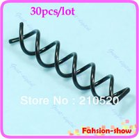 Wholesale Screw Hair Combs - Wholesale- U119 Drop Shipping 30 Pcs Special Design Hair Coil Clip Screw Pin Comb New Hot
