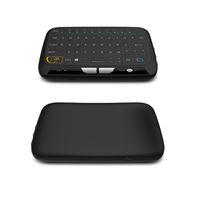 evrensel klavye uzaktan toptan satış-H18 Kablosuz Mini Klavye Tam Touchpad 2.4G Fly Hava Fare Windows için Uzaktan Kumanda MXQ PRO 4 K Android TV Kutusu MAG250 IPTV