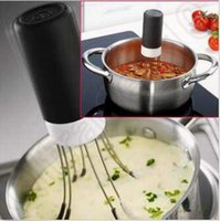 Wholesale New Robo - New 3 Speeds Cordless Crazy Automatic Hands Free Robo Kitchen Utensil Food Sauce Auto Stirrer Stir Crazy CCA5262 100pcs