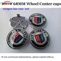 Wholesale Alpina Wheels - High quality FOR Alpina logo 68mm 2.68inch pvc badge car wheel center Hub Caps Emblem Rims car caps for E46 E36 E39 E38 E90 E60 M3 M5