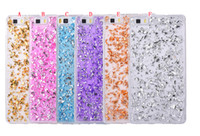 Wholesale Sequin Galaxy - Gold Foil Bling Soft TPU Case For Samsung Galaxy S5 S6 Edge A510 J3 J5 2015 Huawei P8 P9 Shiny Glitter Paillette Sequin Gel Phone Skin Cover