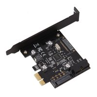 Wholesale E Sata Connector - PCI-E Express USB 3.0 19 pin Connector and 15-pin SATA Power Expansion Controller Adapter Card