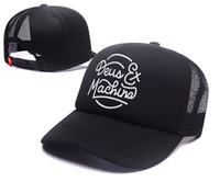 chapeau hiphop fille achat en gros de-Tout neuf! Deus Ex Machina Baylands Camionneur Snapback Hommes Femmes Bboy Filles Mesh Sports Chapeau Hiphop Dieu Prient Ovo Casquette Noir