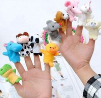 Wholesale cute stuffed animals - In Stock Unisex Toy Finger Puppets Finger Animals Toys Cute Cartoon Children s Toy Stuffed Animals Toys Free delivery