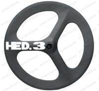 Wholesale Tubular Tri Spoke Front Wheel - HED Fast Forward F700c road bike tri-spoke carbon wheels 56mm clincher fixed gear wheel high quality clincher for Time Trial Bike Wheel