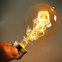antika antik ampuller toptan satış-A19 Ampulü Ampul Vintage Lamba Edison Ampul Armatürü E27 220V 40W Antik Ampüller Edison Ampul Antik Kollu Işık Lambası