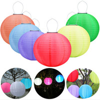 festival führte laterne großhandel-Garten im Freien Solarlichterkette LED Festival Laternen hängen China Feier Lampe 7 Farben Landschaft Beleuchtung wasserdicht