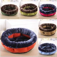 Wholesale 2017 New Dog Bed Kennel Cat Litter Pet Waterloo Suede Octagon Circular Pet Supplies Warm Solid Comfortable Bed House Goods For Pets Cb