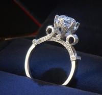 joyería gia al por mayor-Certificado fino del GIA de los EEUU Victoria Wieck Joyería de la eternidad 2ct Topaz simulado Diamante 925 Anillo de bodas del anillo de bodas de las mujeres de plata esterlina