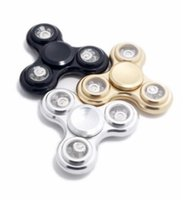 Wholesale Fidget Spinners Toy Flashing Durable Stainless Steel Bearing High Speed Min Spins Precision Aluminum Material Hand Spinner EDC ADHD