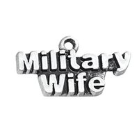 Wholesale Military Plates Metal - New Fashion Antique Silver Plated Metal Military Charms Jewelry DIY Finding Message Jewelry